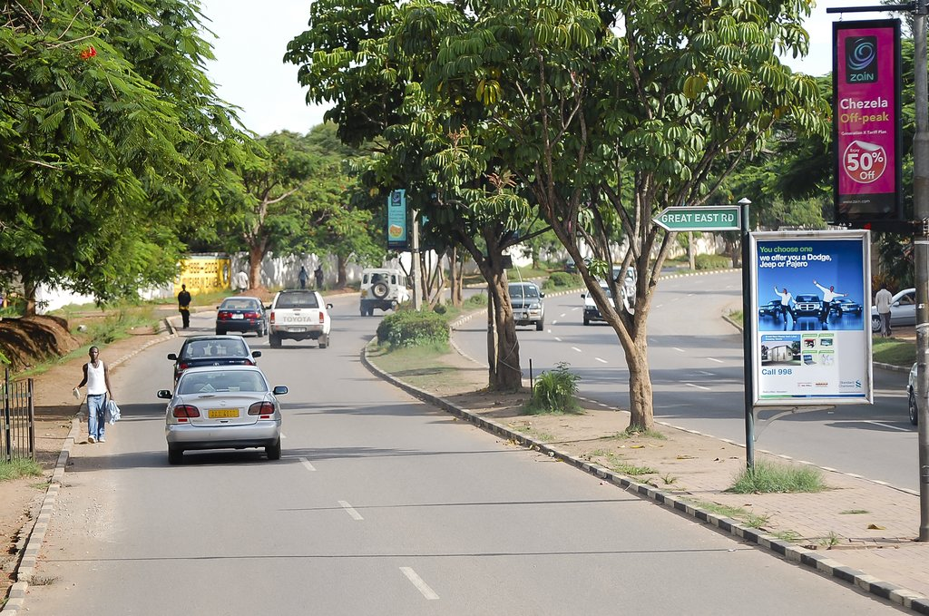 Main avenue in Lusaka