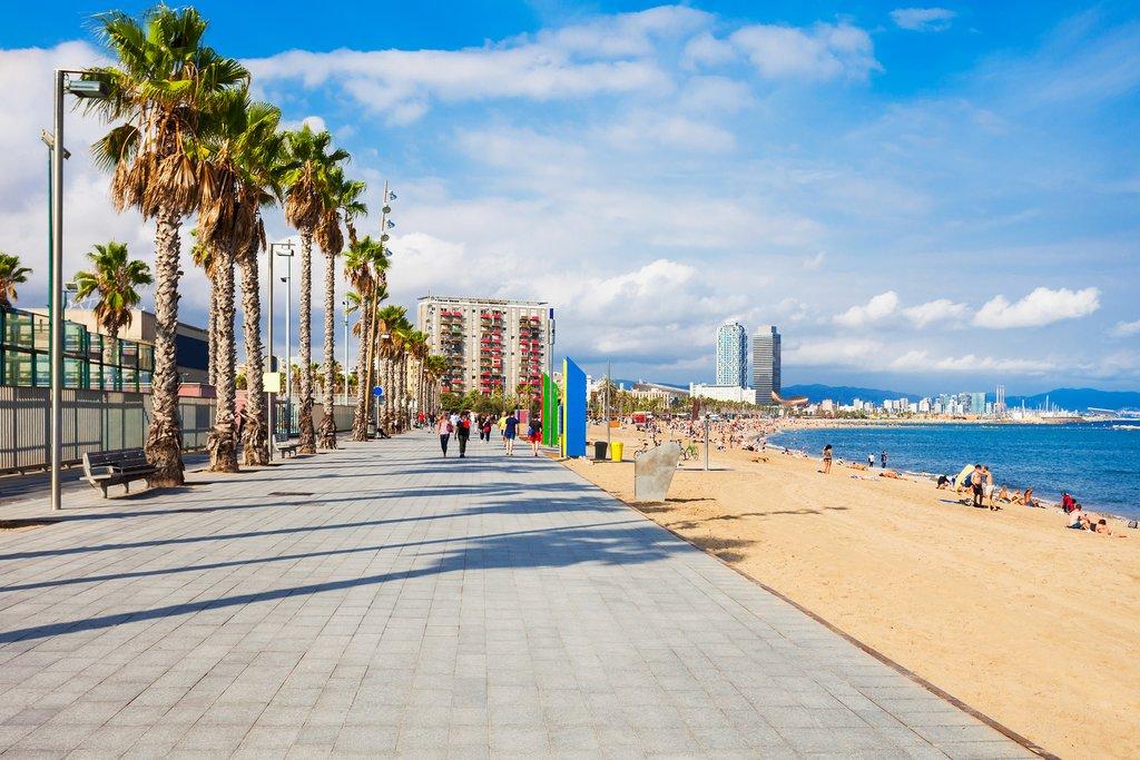 Waterfront Promenade in Barcelona