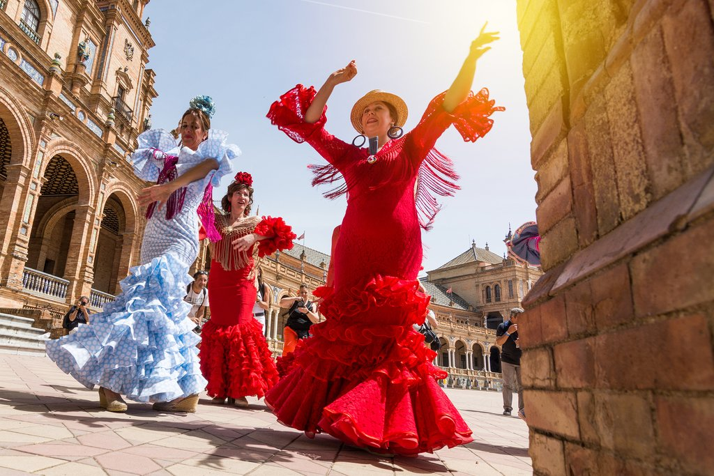 Flamenco dancers in Seville