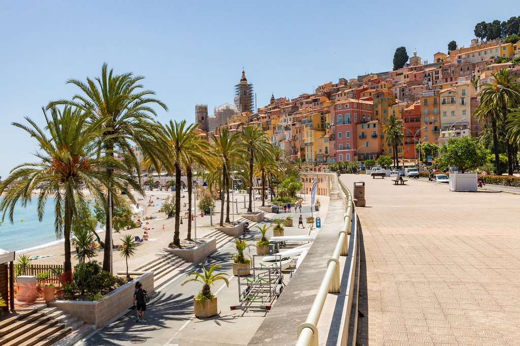 Hit the markets in Menton before continuing the drive