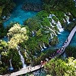 The boardwalk leading through Plitvice Lakes National Park