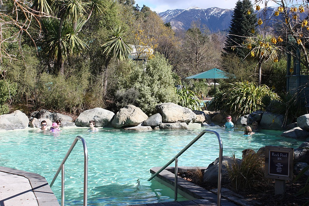 Soak in the thermal pools in Hanmer Springs