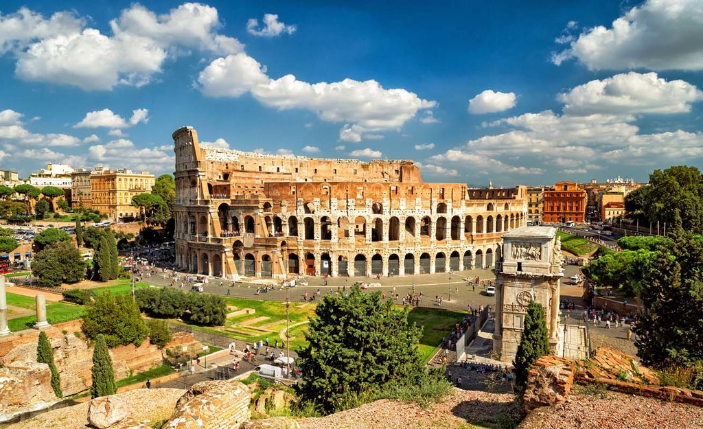 The Colosseum and Roman Ruins