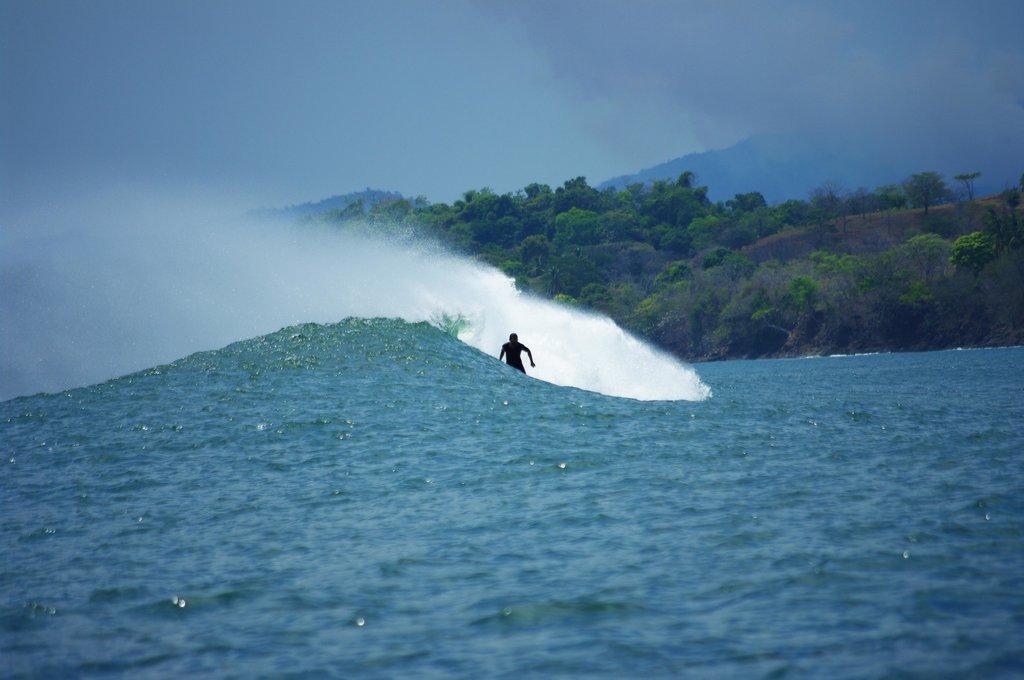 Surfing in Santa Catalina