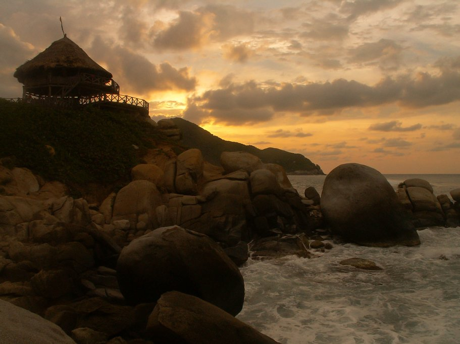Sunset in Tayrona