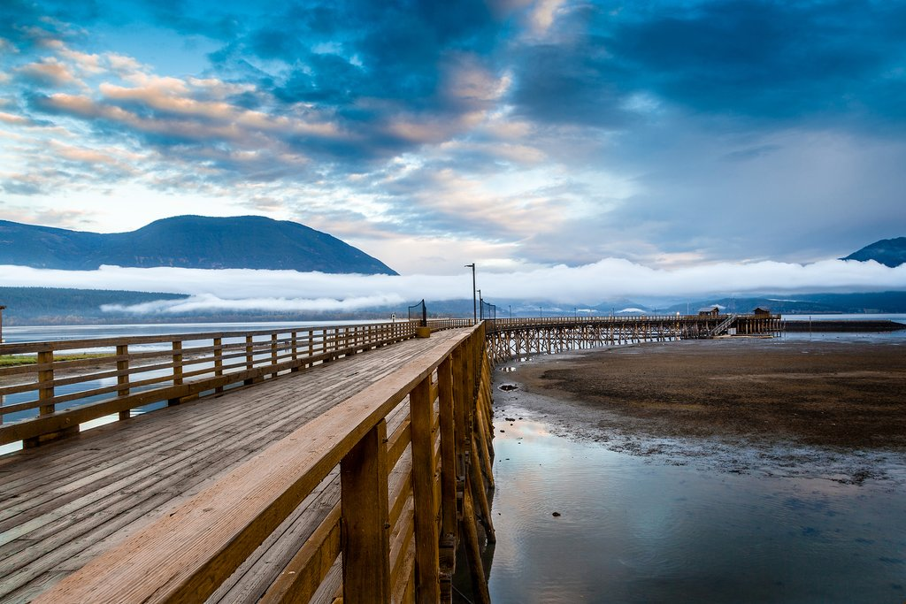 North America's longest wooden wharf, the Salmon Arm Wharf