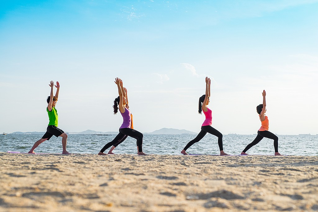 Get into warrior pose at one of several yoga studios