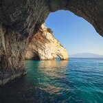 Greece is known for its many sea caves.