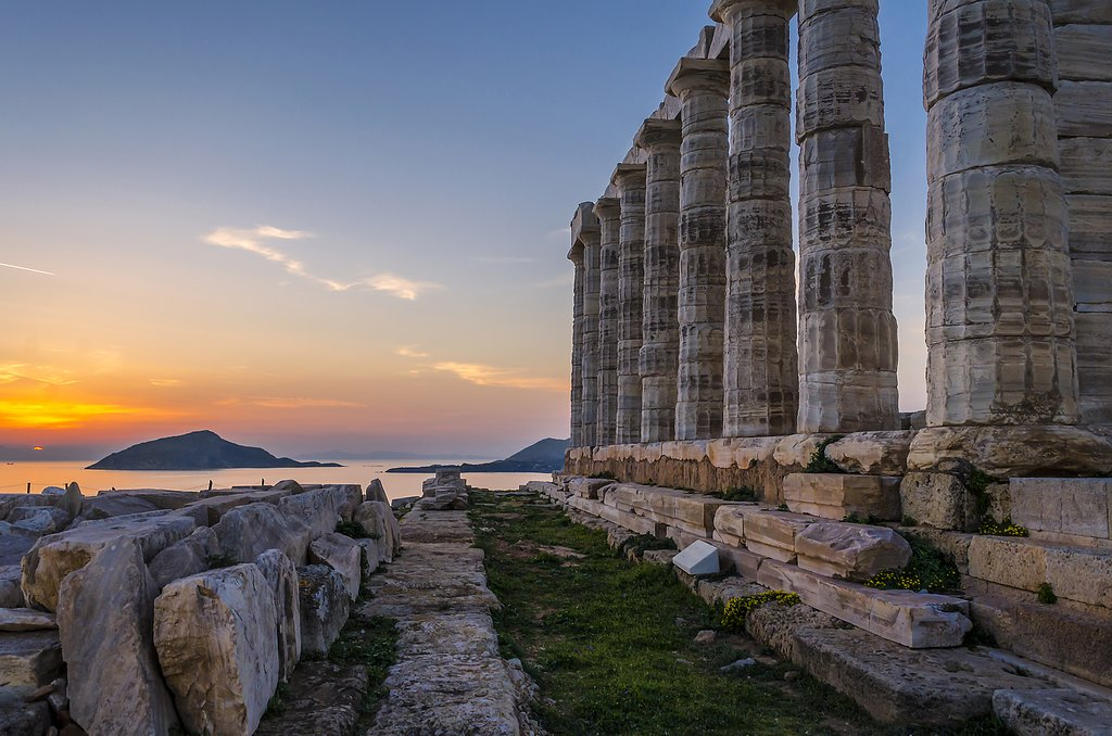The Ruins of the Temple of Poseidon