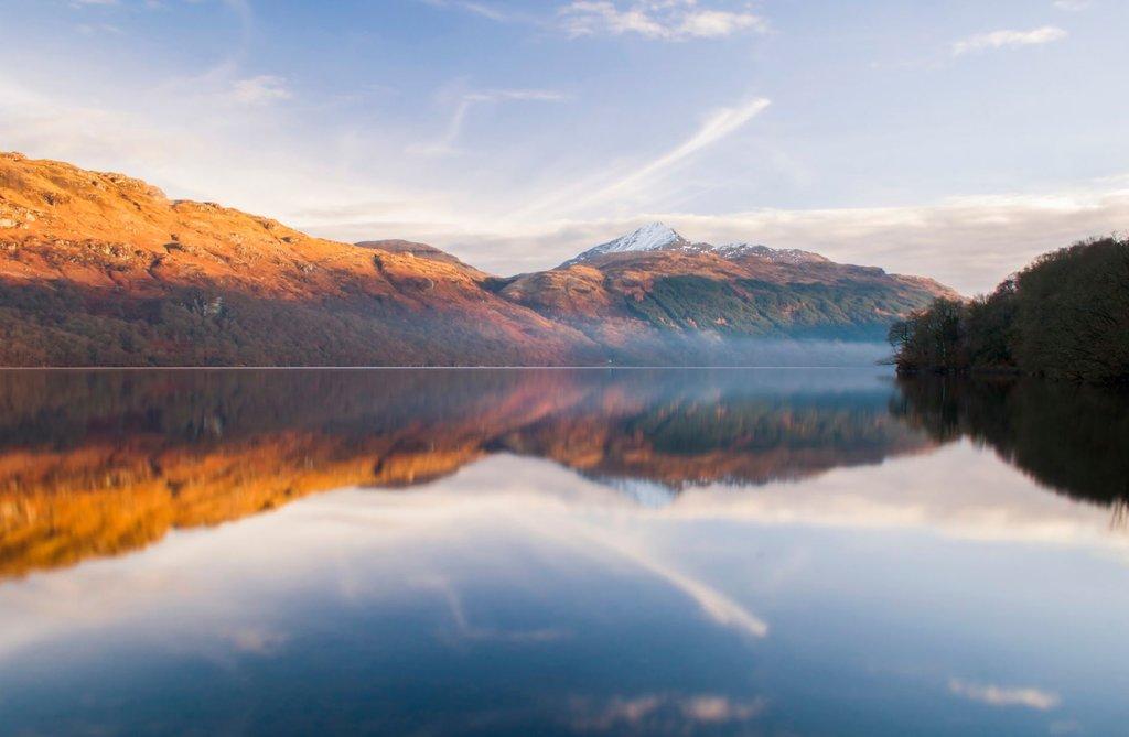 Sunrise over Loch Lomond.