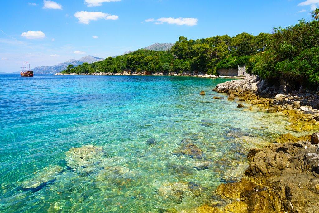 Croatia - Koločep shoreline