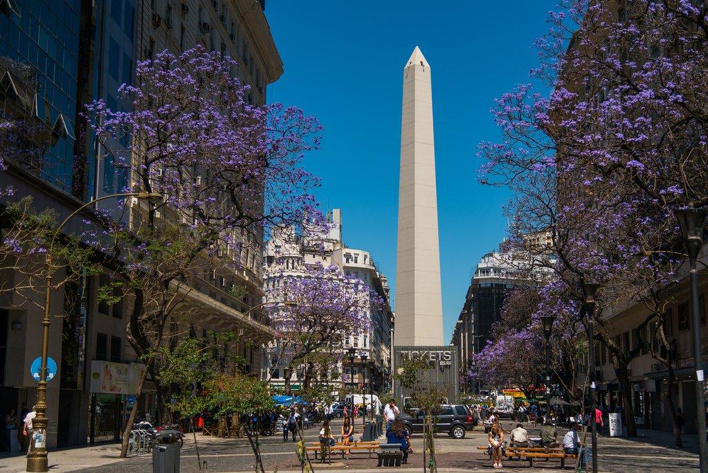 The famous Obelisco of Buenos Aires