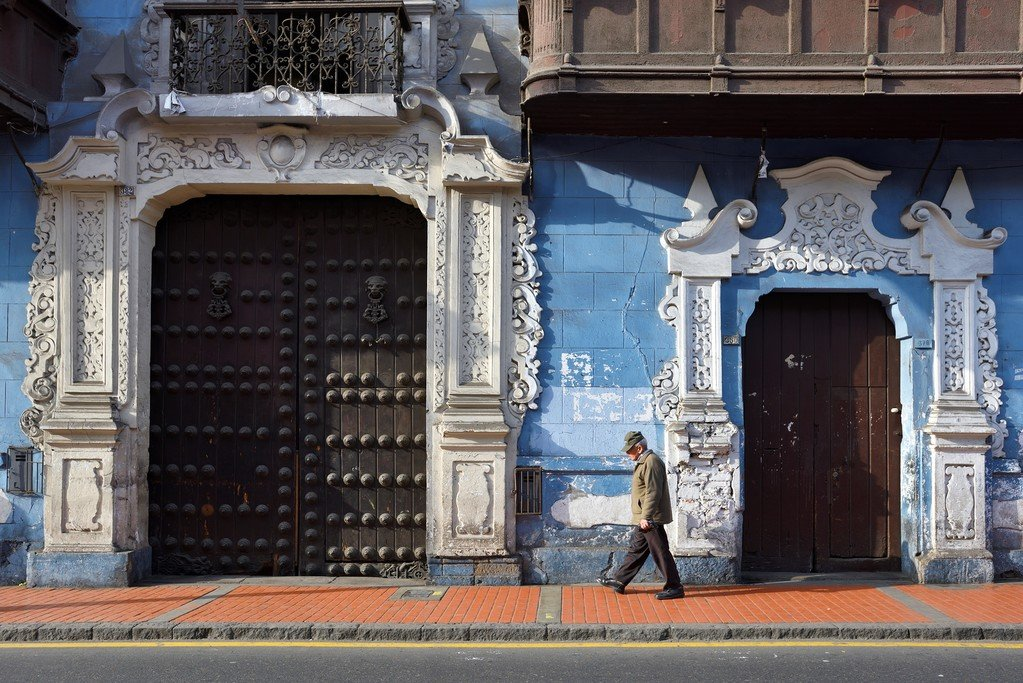 A pretty street view in Lima