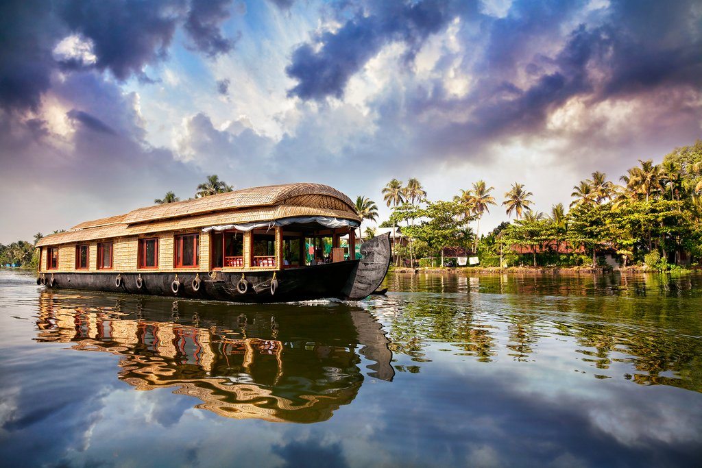 A houseboat in Kerala