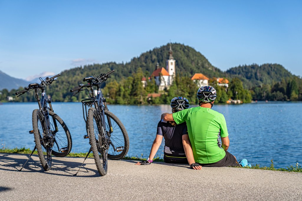 Romatic views of Bled Island.
