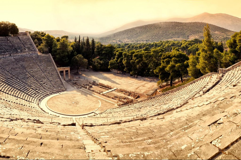 The ancient theater at Epidaurus