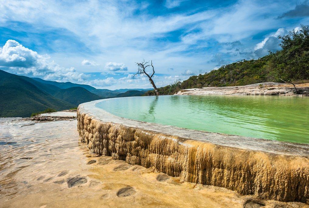 The striking landscape at Hierve el Agua