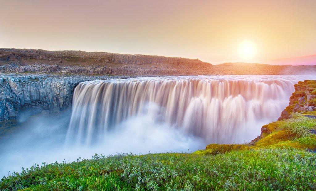 Europe's famed Dettifoss Waterfall