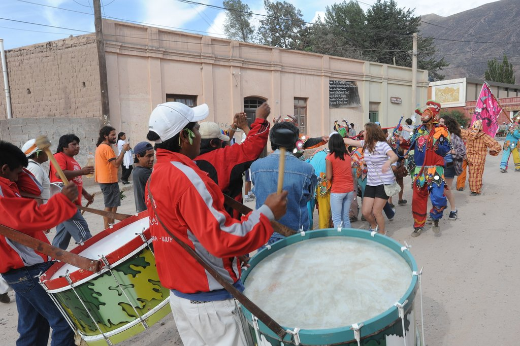 Carnival celebrations, Tilcara, Argentina