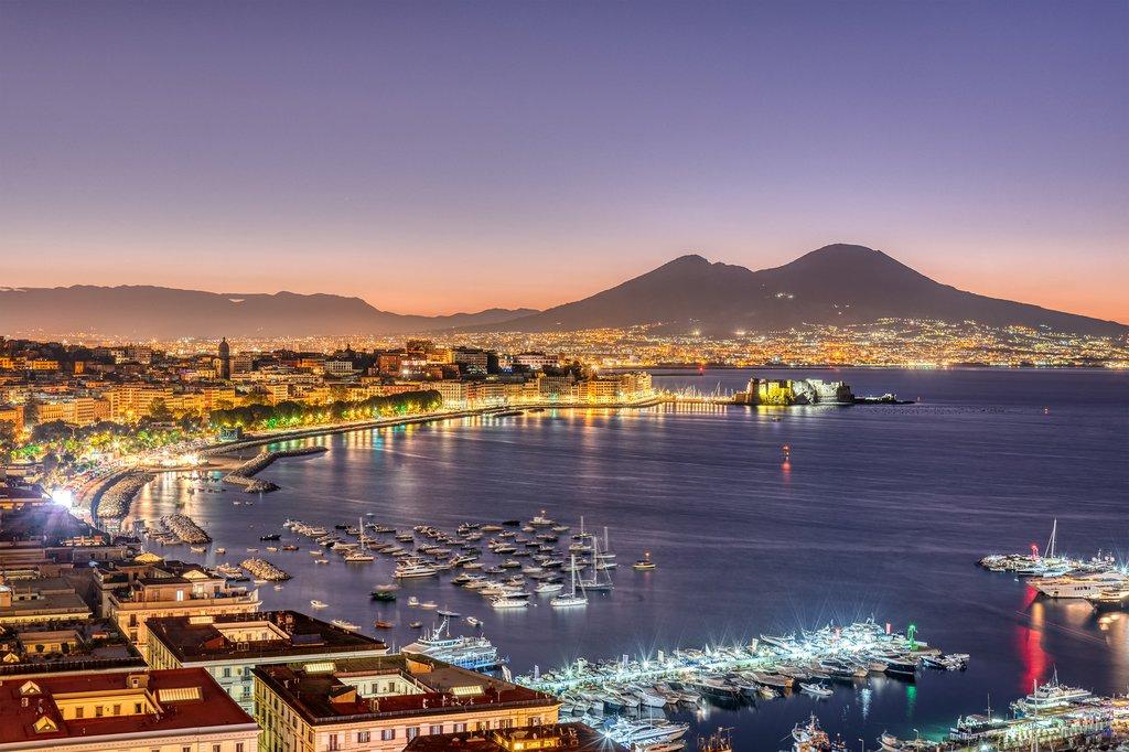 Views of the Coast and Mt. Vesuvius