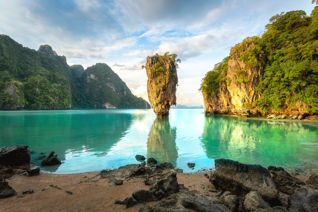 Khao Phing Kan, also known as James Bond Beach