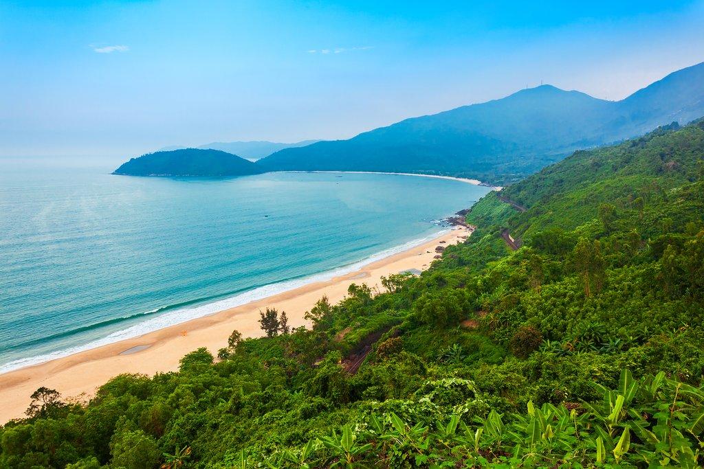 The coastal view from Hai Van Pass