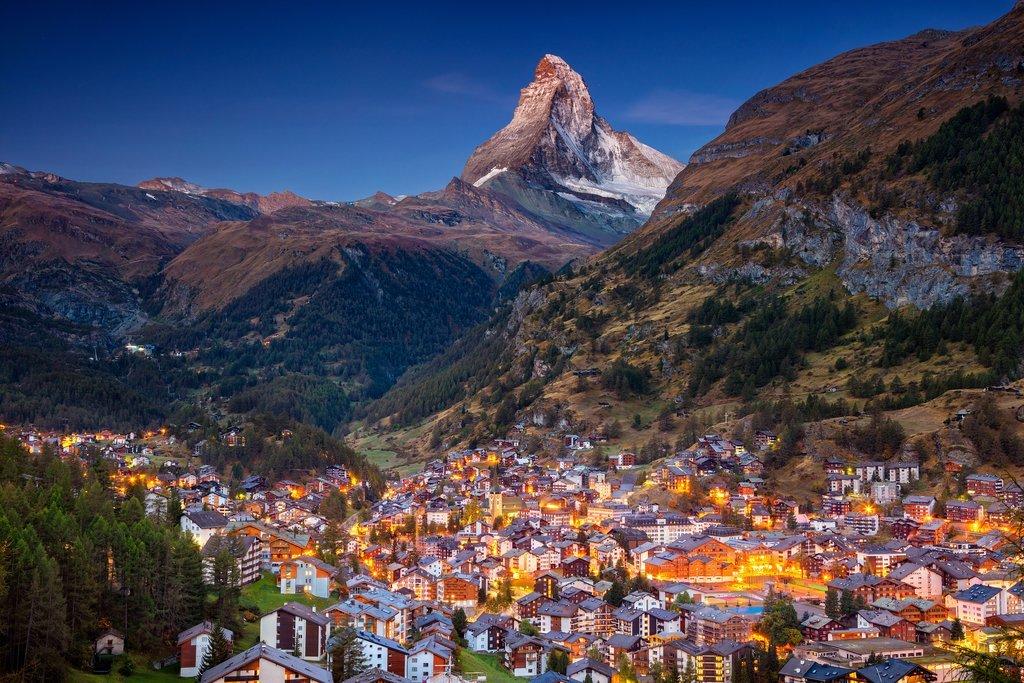 Village of Zermatt and Matterhorn