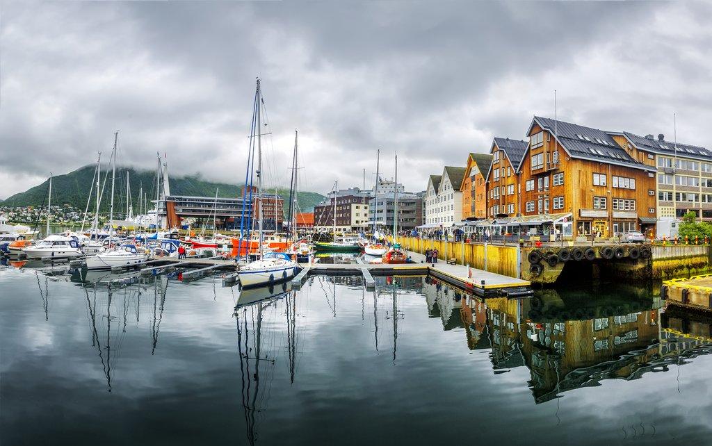 Tromsø's picturesque harbor