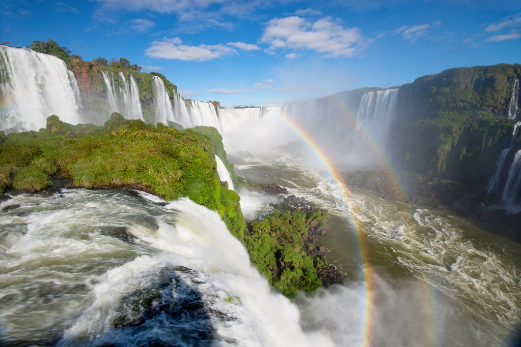 Make your way to the Brazilian side of the falls