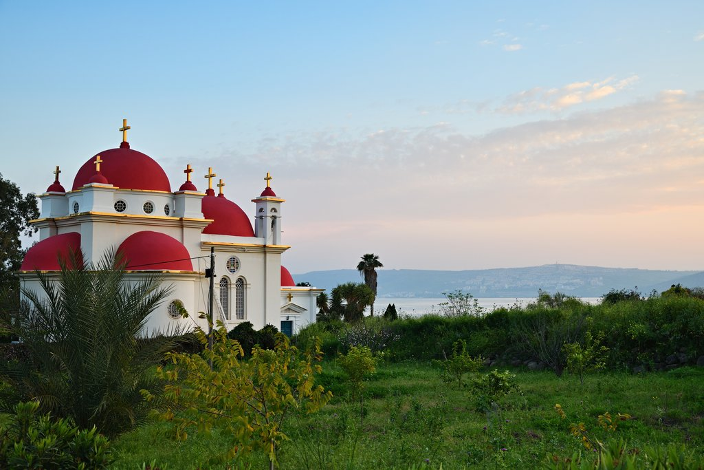 Save Download Preview The Greek Orthodox Church of the Holy Apostles in Capernaum