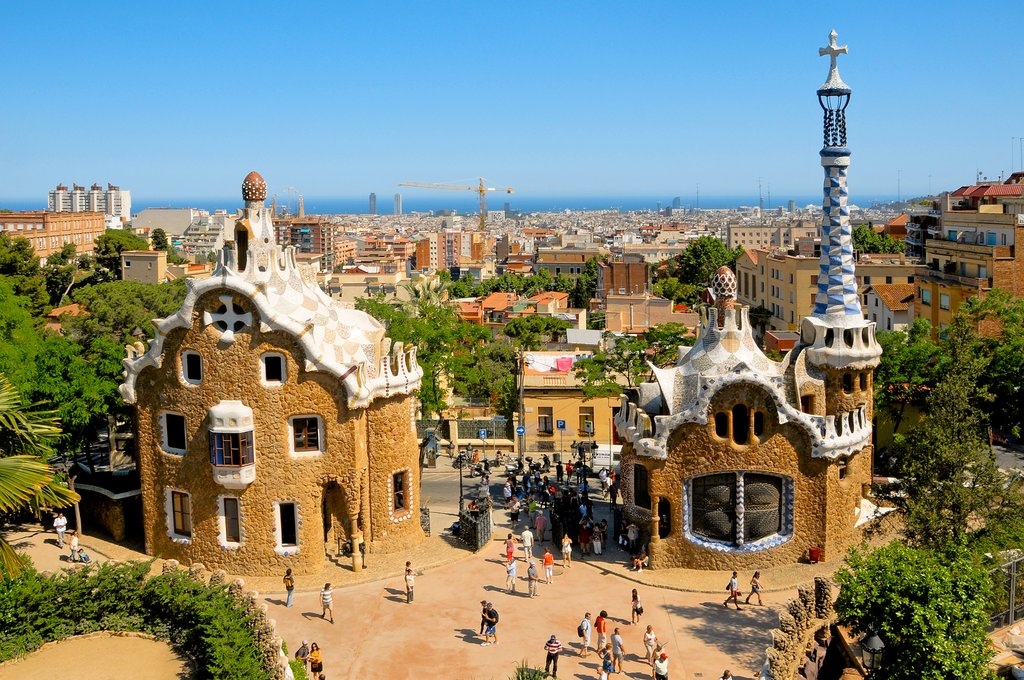 The famous park designed by Antoni Gaudi
