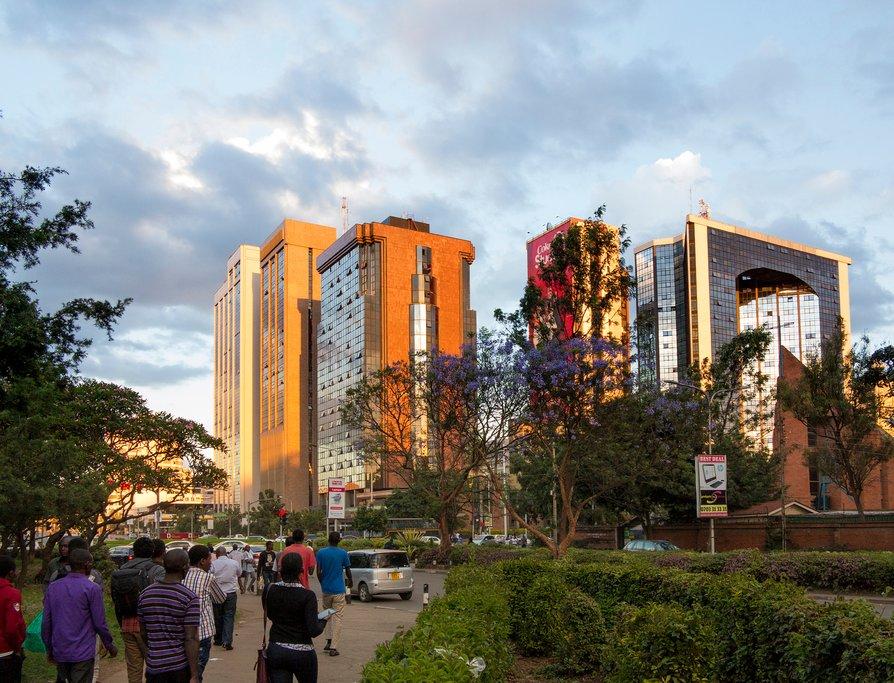 City buildings in Nairobi