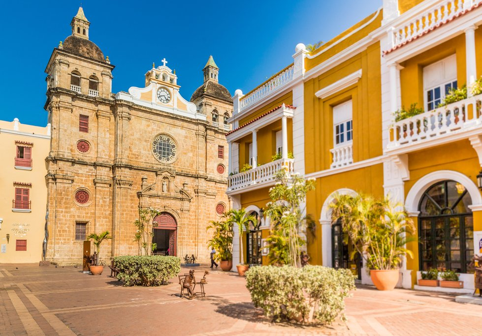 San Pedro Claver Cathedral in Cartagena's Old Town