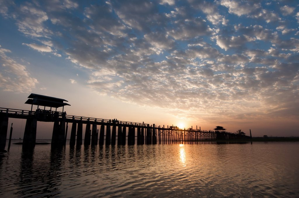 The U Bein Bridge is an excellent place to watch the sunset
