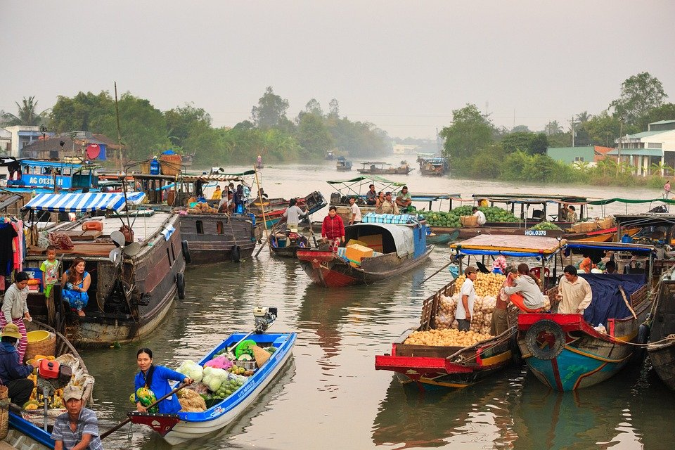 Spend the morning on the floating market