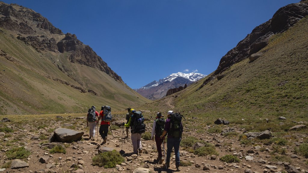 Trekking in the province of Mendoza, Argentina