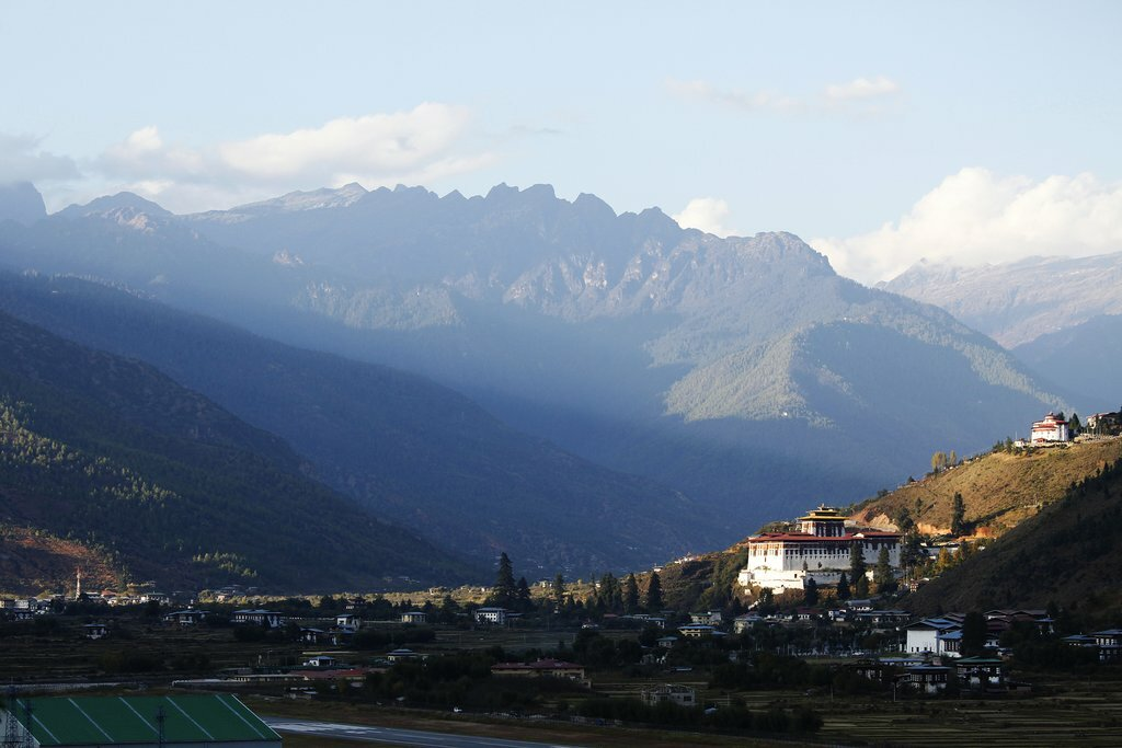 Dramatic landscapes in the Paro Valley