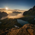 Breidtinden summit over the Mefjorden