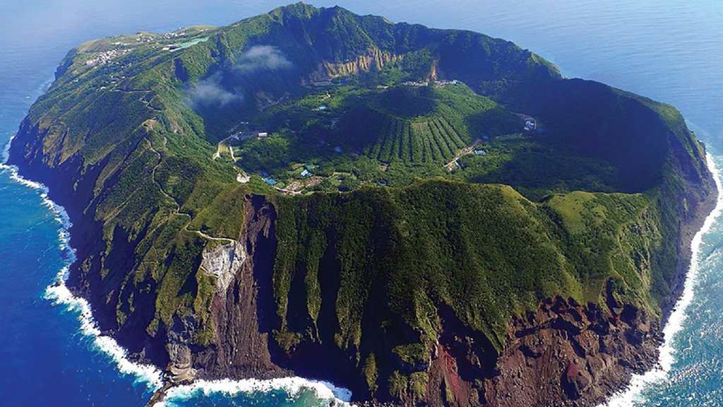 The volcanic island of Aogashima