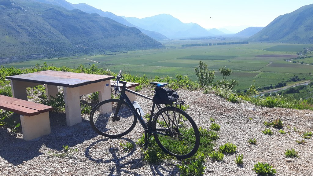 View of the Konavle valley along the Ciro bike route