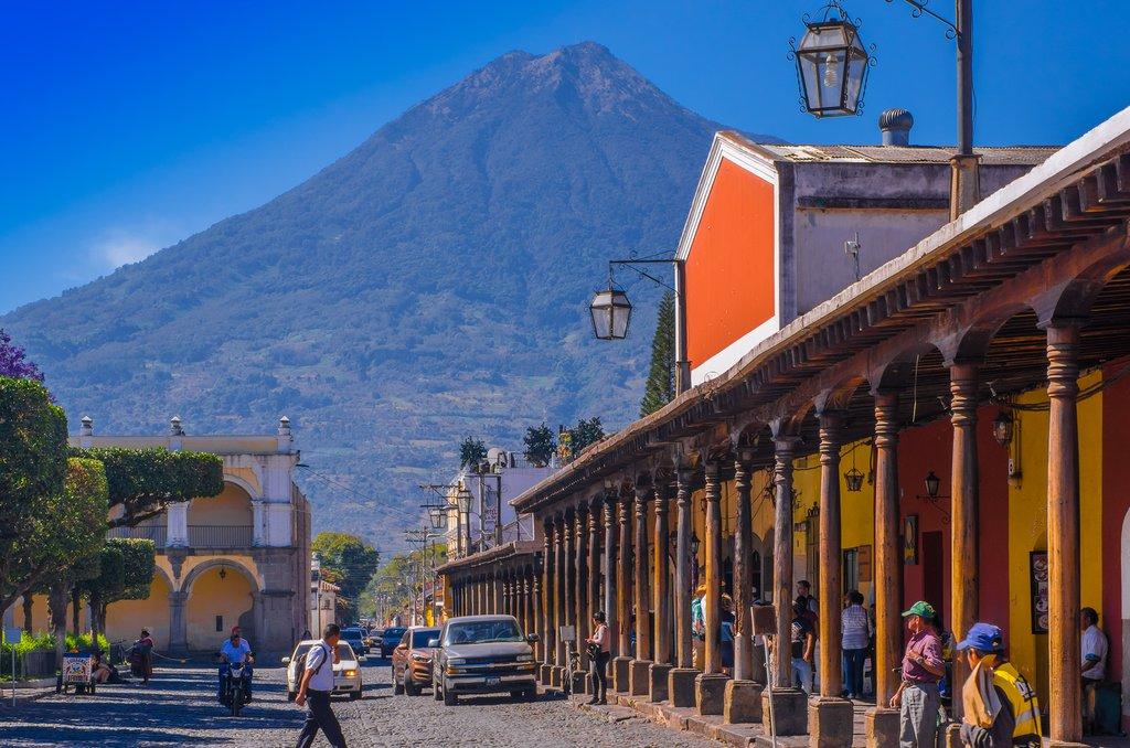 Volcán de Agua overlooking the town of Antigua.