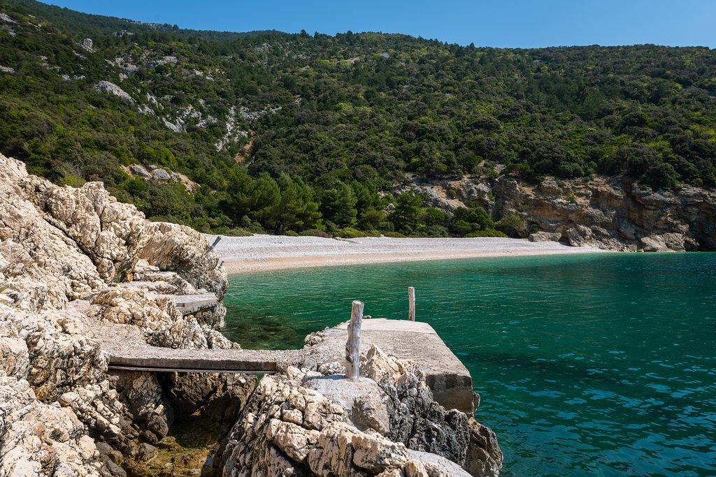 Plava Grota beach near Lubenice