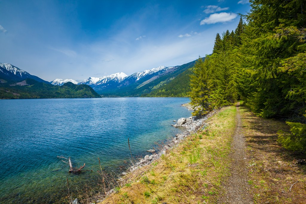 Slocan Lake near the town of New Denver