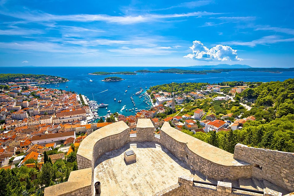 Hvar and the Pakleni Islands in the distance
