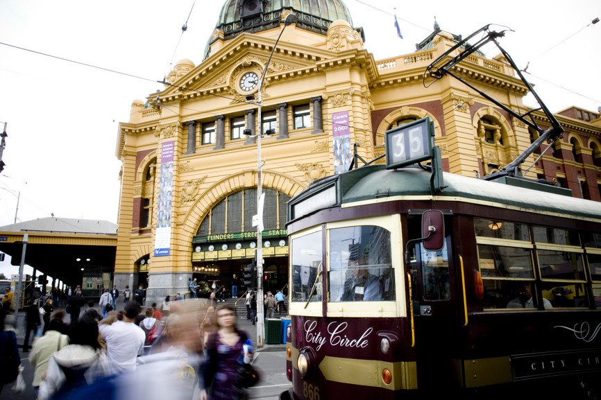 Hop on the Melbourne City Circle Tram for a free ride around the city