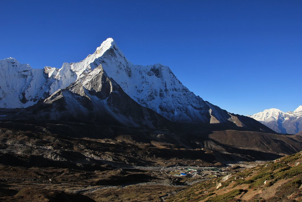 Village of Chhukung with Ama Dablam in the background