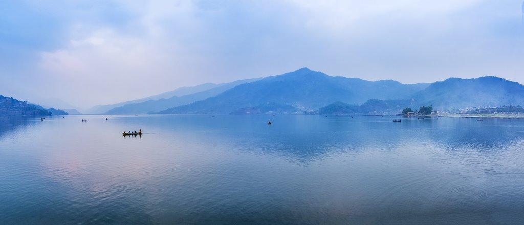 Phewa Lake in the early morning