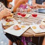 Savory eats accompanied with wine