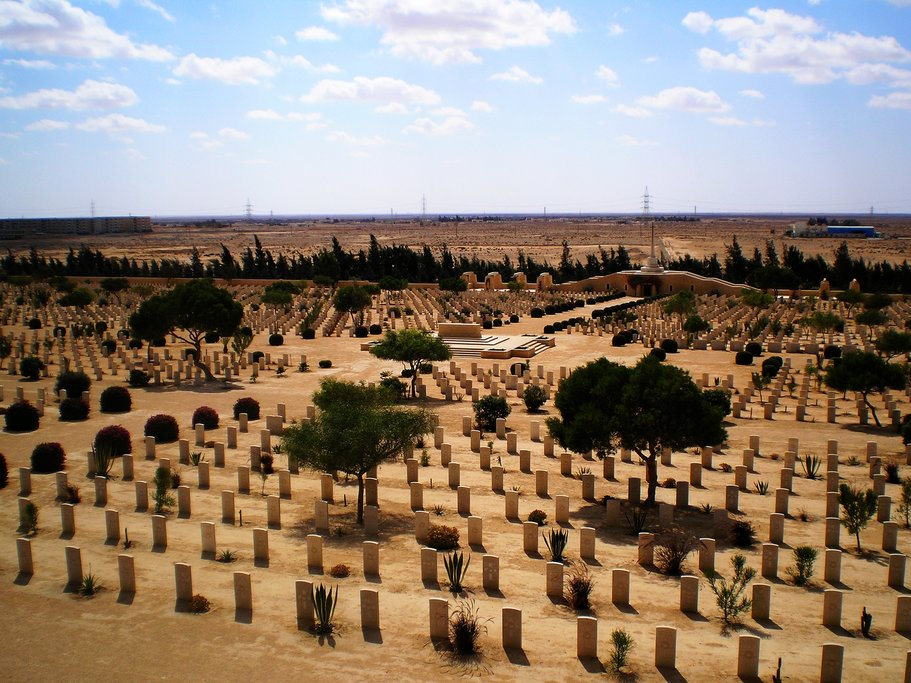 View over the El Alamein War Cemetery, Egypt