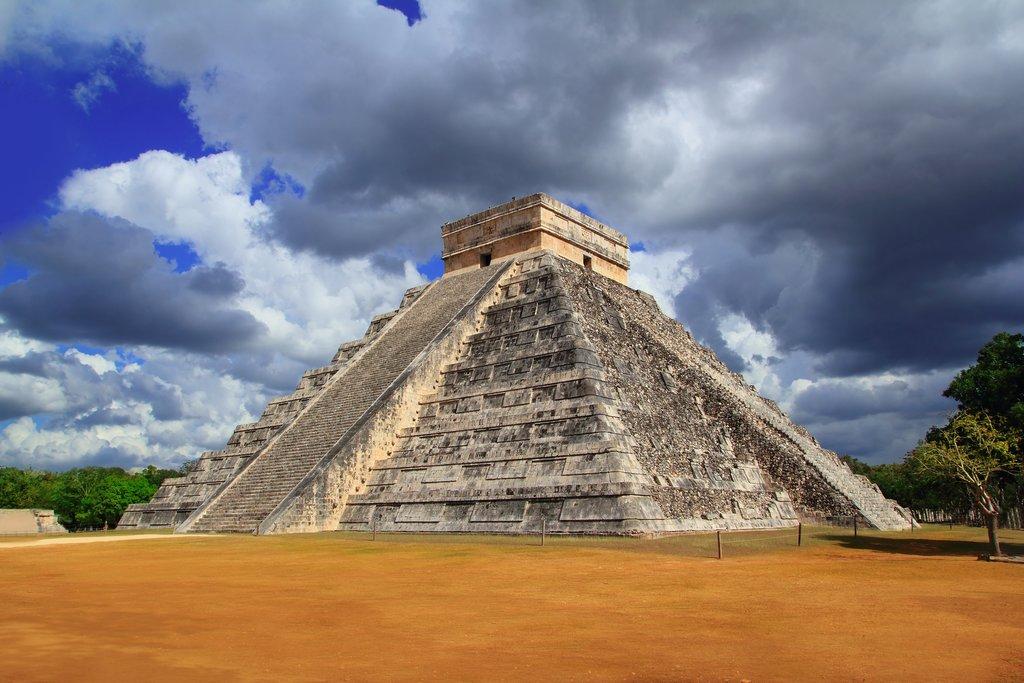 Ancient Mayan ruins on the Yucatán Peninsula